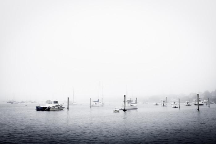 1. The white sky settling onto the water in Edgartown, Martha's Vineyard.