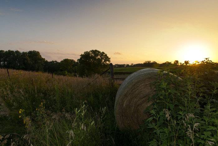 13. And if you want to see the most beautiful sunset of your life - just visit the Iowa countryside.