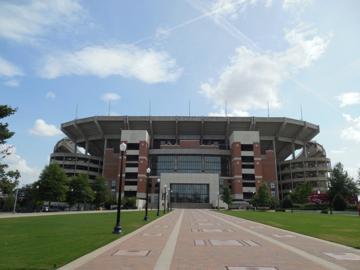 9. And of course the two most recognizable stadiums in Alabama are Bryant-Denny Stadium...