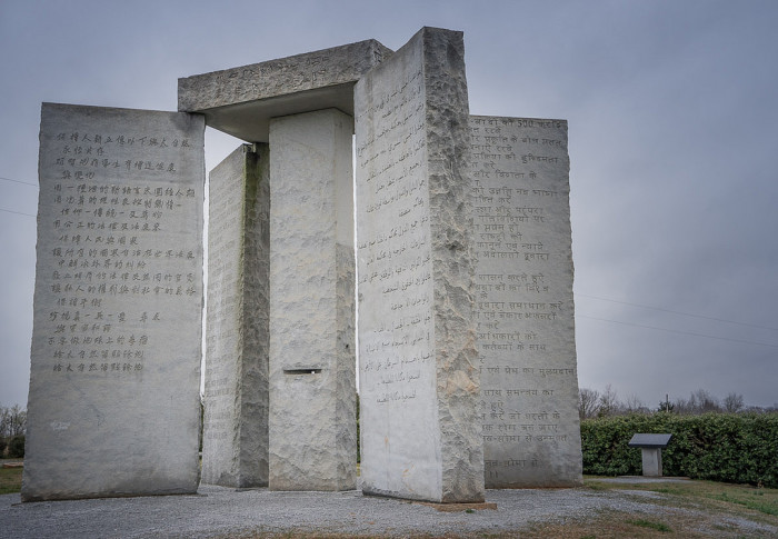 3. The Guidestones were meant to survive a global apocalypse.
