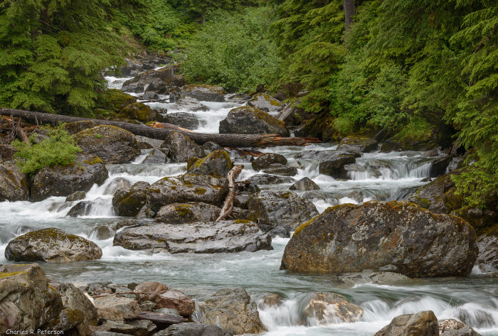 7) Cascading waterfall off of Salmon Glacier Road