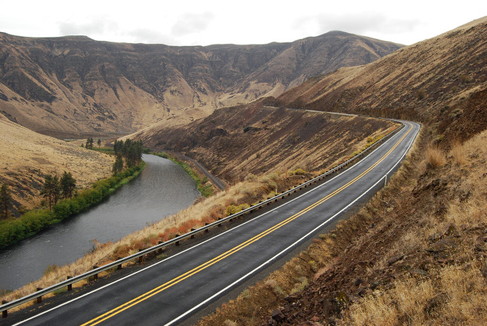 9. From a distance, the Yakima River Canyon Scenic Byway would make an epic background to roll credits over.