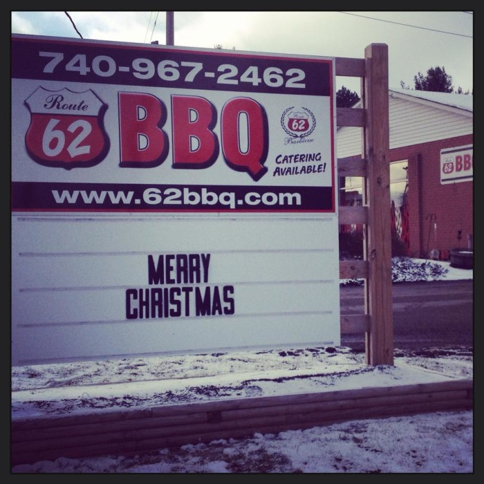 4. Route 62 BBQ (Johnstown)
