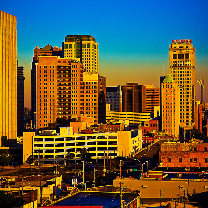 1. This magnificent skyline view was captured in downtown Birmingham, Alabama.