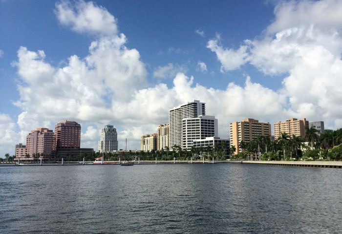 14. This shot of West Palm Beach is breathtaking.