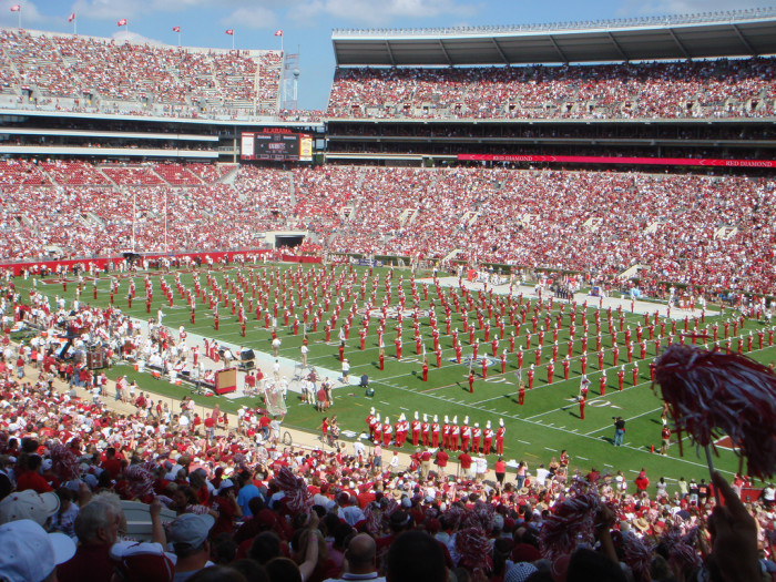 8. University of Alabama stadium on game day (by yourself)