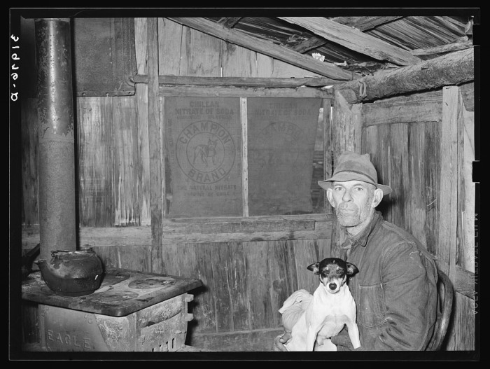 """15. Antioch resident Mot Tucker is photographed in the kitchen of his """"corncrib"""" home."""