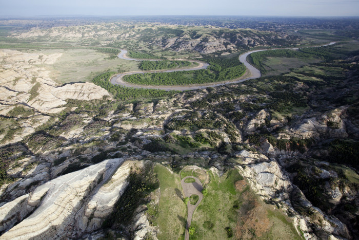 8. The Oxbow Overlook in Theodore Roosevelt National Park.