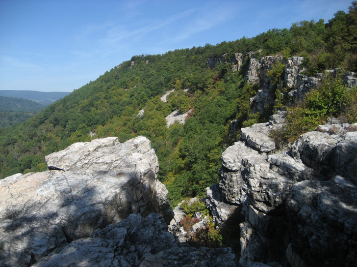 """9) Just one example of a beautiful overlook in Maryland. This is """"Lover's Leap"""" located in Cumberland."""