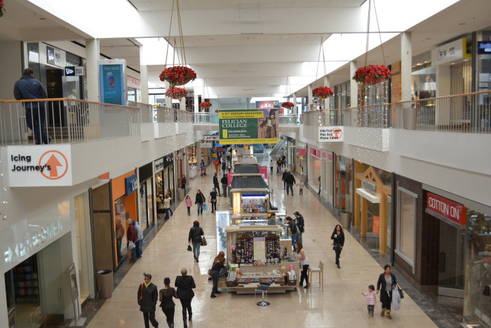 10. There may be such a thing as too many malls.