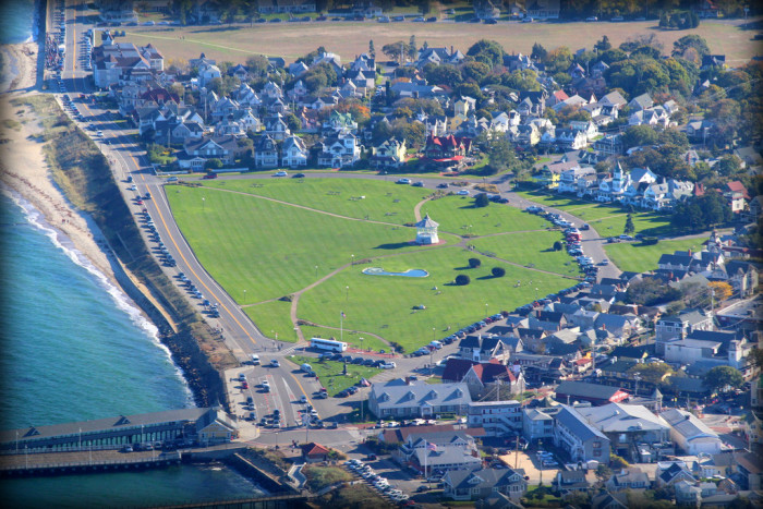 6. The cozy community of Oak Bluffs is tidily clustered around their beautiful public green.