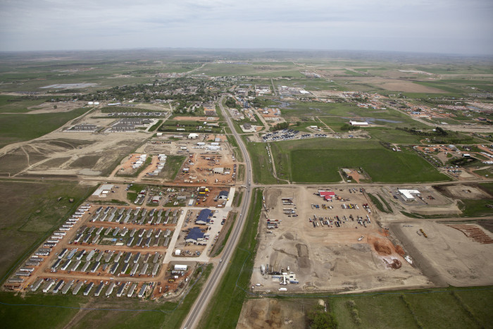 9. Looking west over Watford City, ND.