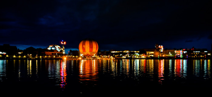 8. Downtown Disney looks incredible in this reflection, too.