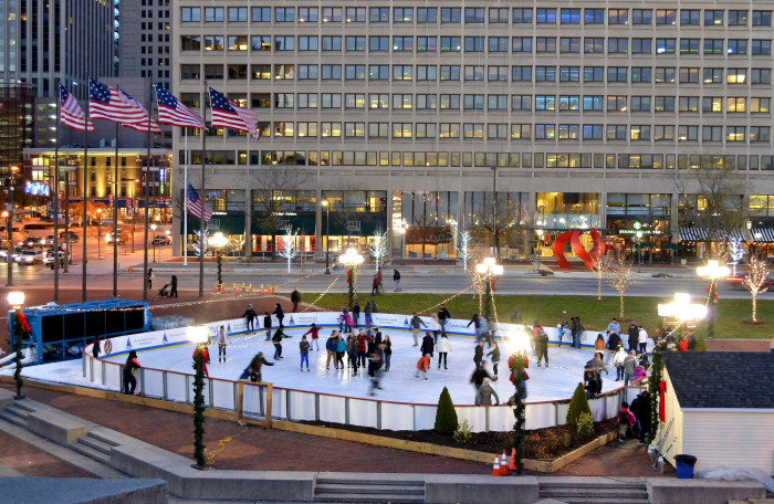 2) Outdoor Ice Skating