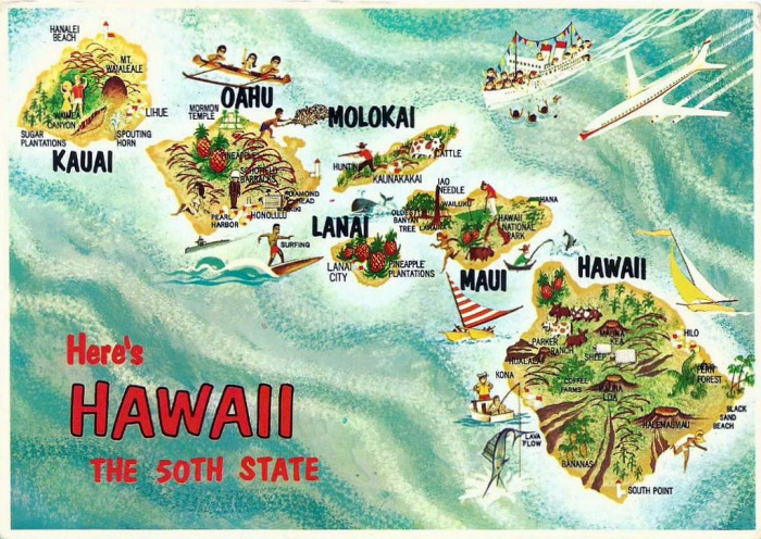 16) Hawaii does not have a single straight line in its state boundary.