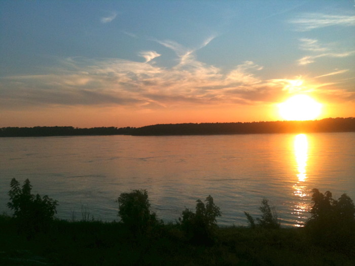 16) Mud Island sunset, anyone?