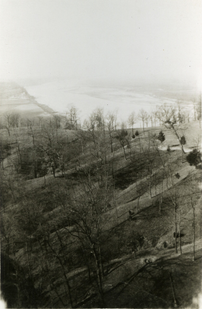 16.  View of Missouri River from water tower, Algoa Farms, Jefferson City.