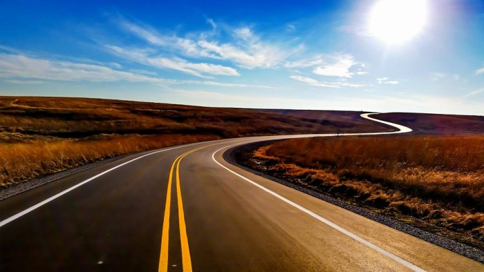 2. This view of a clear sky and open road taken at Neil Smith Wildlife Refuge in Prairie City.