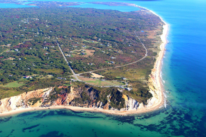 2. Gay Head Cliffs on Martha's Vineyard. Those waters look so crystal clear.