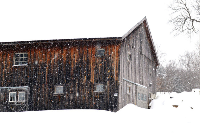 13. This snowy barn in Becket has probably seen more snow than anyone inside.