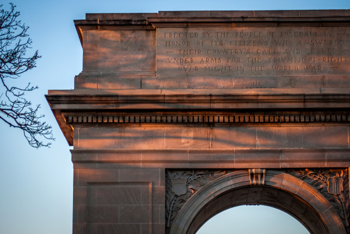 6. ...and the majestic Rosedale World War I Memorial Arch.