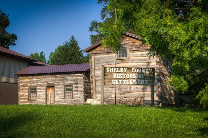 1. Shelby County Historical Settlement, Harlan