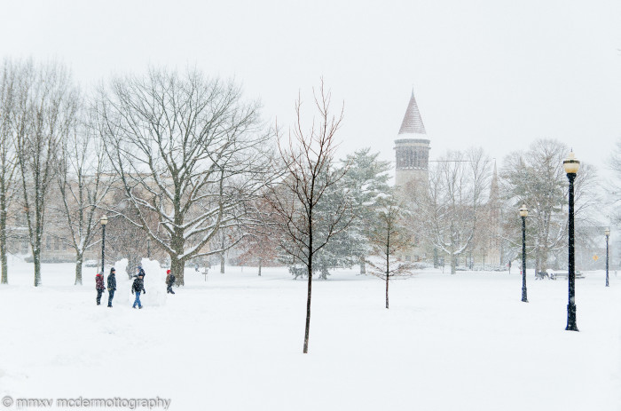 3. Snowy day on The Ohio State University campus
