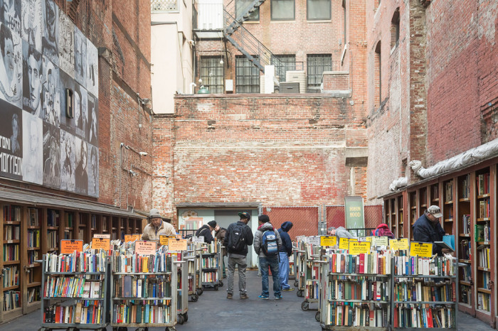 6. Go book-hunting in Boston. In order to curl up near the fire with a good book, you'll need to track one down first. The Brattle Book Shop in downtown Boston lets you browse the stacks in a super cool outdoor setting. When you've found the perfect reading material, head on over to L.A. Burdick for one of their famously rich cups of hot chocolate and warm those chilly fingers.