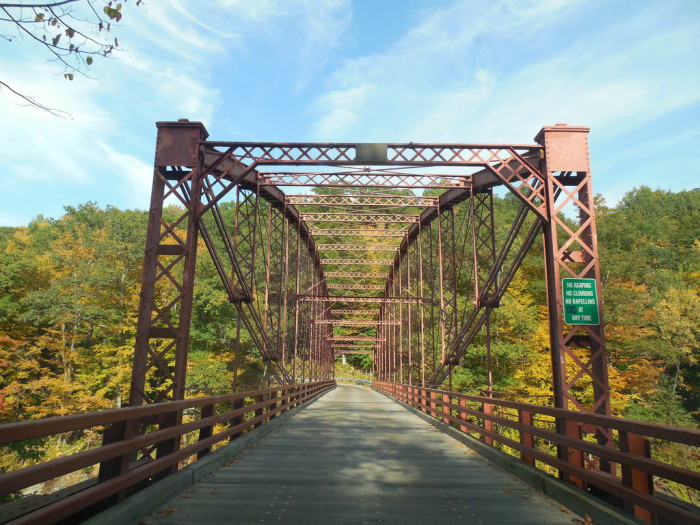 19. Bardwell's Ferry Bridge, Conway. This bridge spans the Deerfield river.