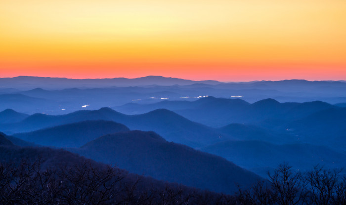 10. Sunset in Brasstown Bald - The Highest Point in Georgia