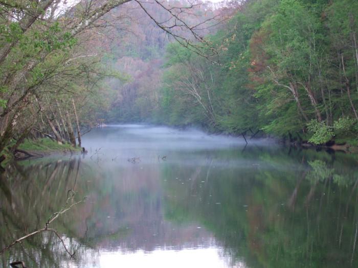 17) A hazy, watery morning