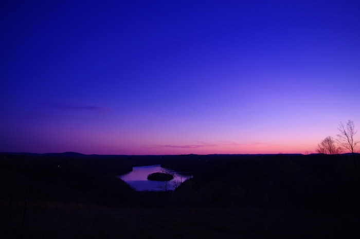 17) Dale Hollow Lake is telling a blue tale this evening