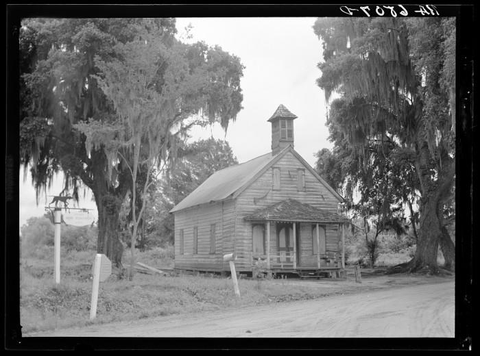 15. Church at a crossroads south of Charleston. 1936.