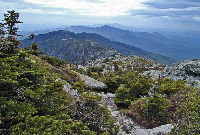 Views from Vermont's tallest mountain, Mt. Mansfield.