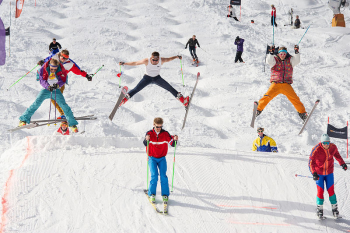 4.  You wore a CB ski Jacket (see the guy in the front with the blue pants).