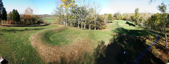 G is for Great Serpent Mound.