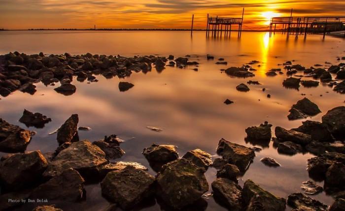 3. Waterside sunset.