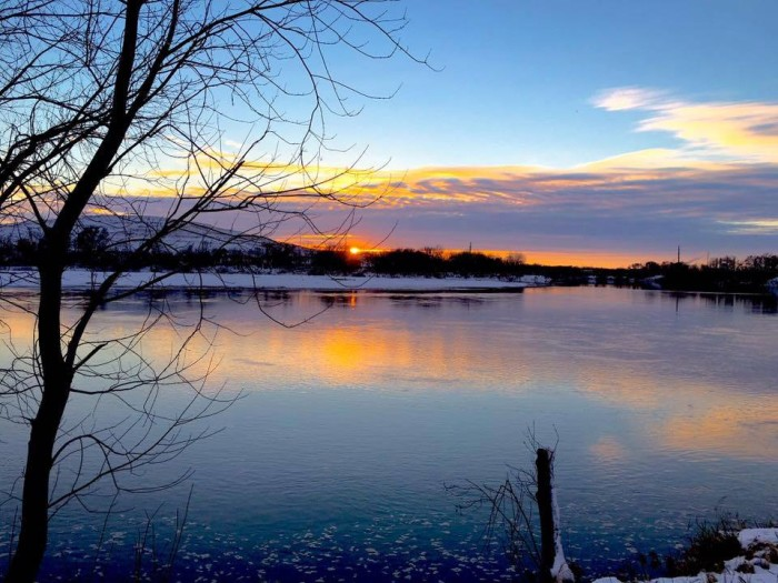 5. A gorgeous winter evening in Cedar Rapids is photographed by Bob Strickland.