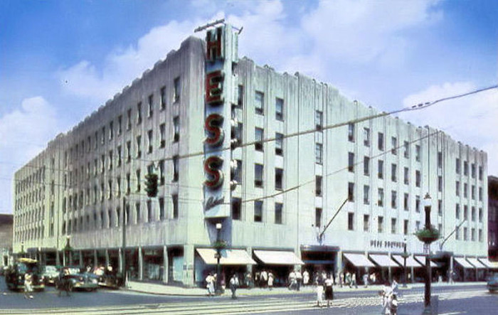 9. Hess Brothers in Allentown as it stood in 1950— Hess was once an iconic department store in the region.