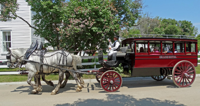6) Then take a stroll on board a horse drawn carriage.