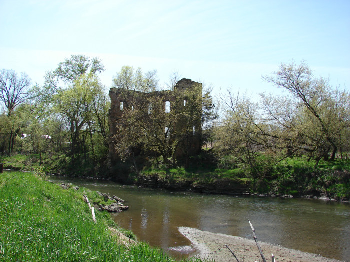 2. This abandoned grist mill stands along the north fork of the Maquoketa River at the site of the deserted ghost town, Rockville. Rockville was founded in 1845 and was a prosperous town until the railroad company started building tracks in neighboring towns, causing Rockville to fade away. Now there are nothing but the ruins to remind us.