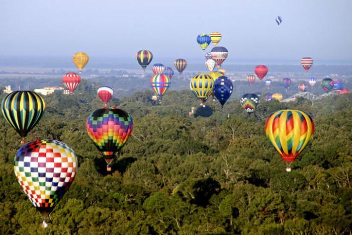 9. A Hot Air Balloon Ride
