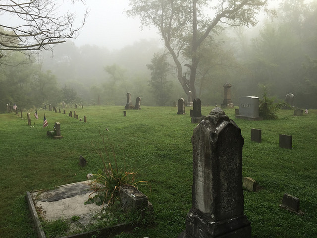 9. Mist settles over Dravo Cemetery at Buena Vista.