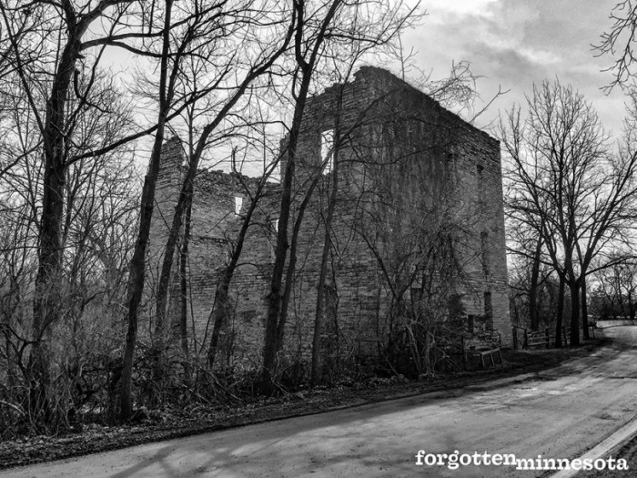 3. Oxford Mill Ruin is on the Little Cannon River near Cannon Falls. Built  in 1878, it is one of the best preserved milling remnants in the area.