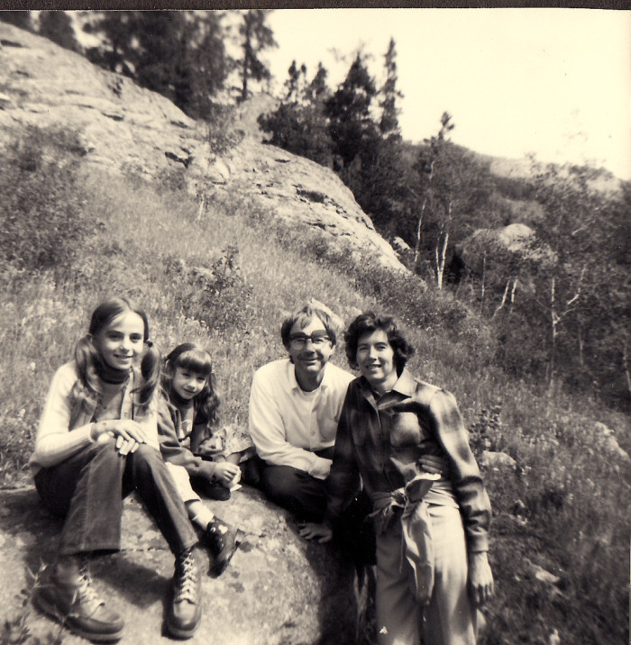 "6. ""Julie, Shari, Uncle John and Aunt Lea."" (Estes Park, Summer 1973)"