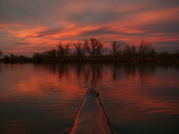 "12. ""Red Sky, Calm Water, Fast Kayak"""