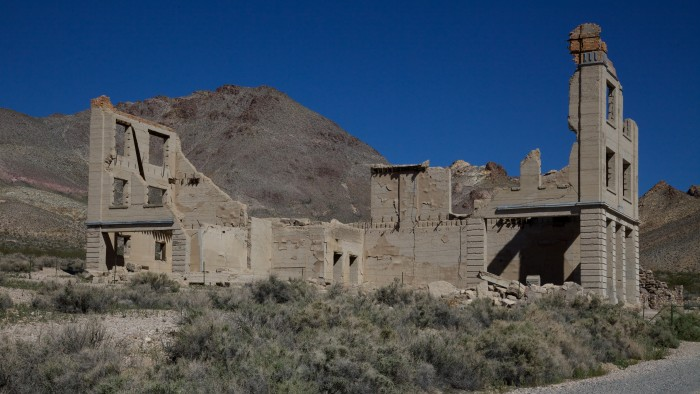 1. The ruins of John S. Cook & Co. Bank building in Rhyolite, Nevada.