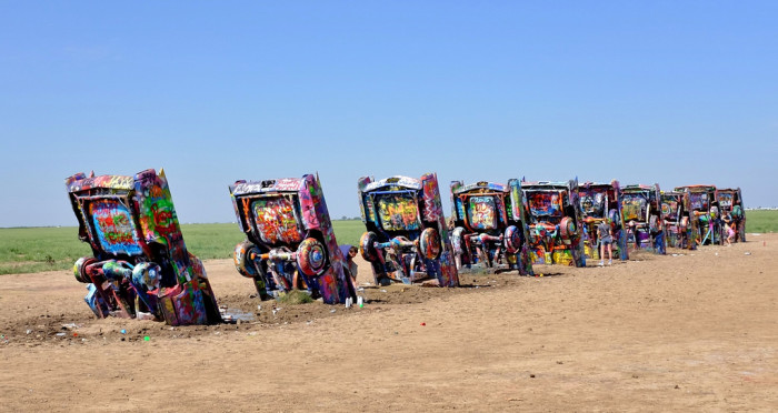 10. Pay a visit to the (in)famous Cadillac Ranch!