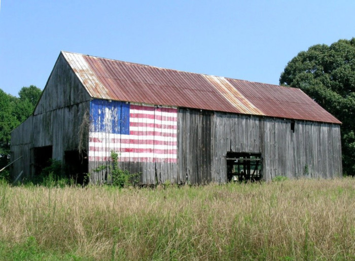 1) It doesn't get any more American than this tobacco barn in Calvert County.