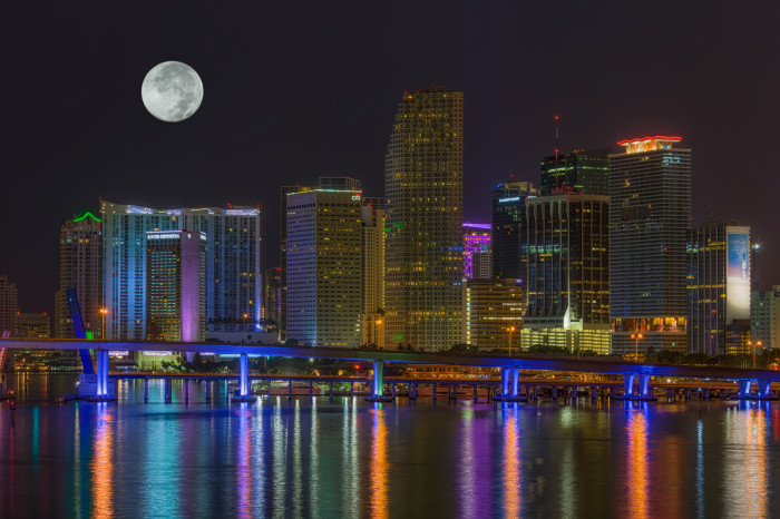 12. And even though this is a composite, I love this view of the moon over Miami.